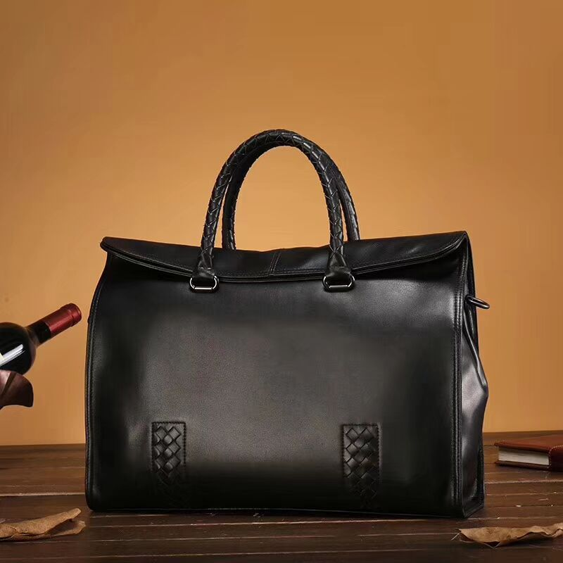 2018 Hot New Luxury Brand Import Cowskin Business Handbags High-Quality Handmade Woven men's briefcase High-end Manufacturing high end technology for effective glass manufacturing industry