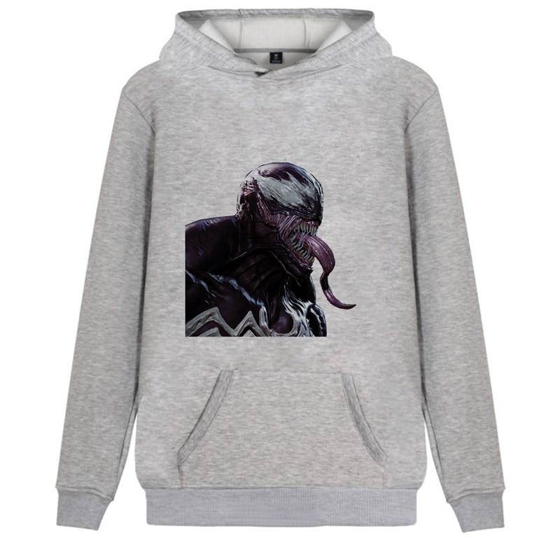 Marvel Avengers Hero Venom Printed Fashion Cartoon Trendy Fleecy Hoodie Kangaroo Pocket Leisure Teen Pullover A193291 in Hoodies amp Sweatshirts from Men 39 s Clothing