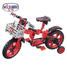 цена на Technic City Bicycles Building Blocks Sets Bricks Model Kids Classic Toys For Children Motorcycle Car