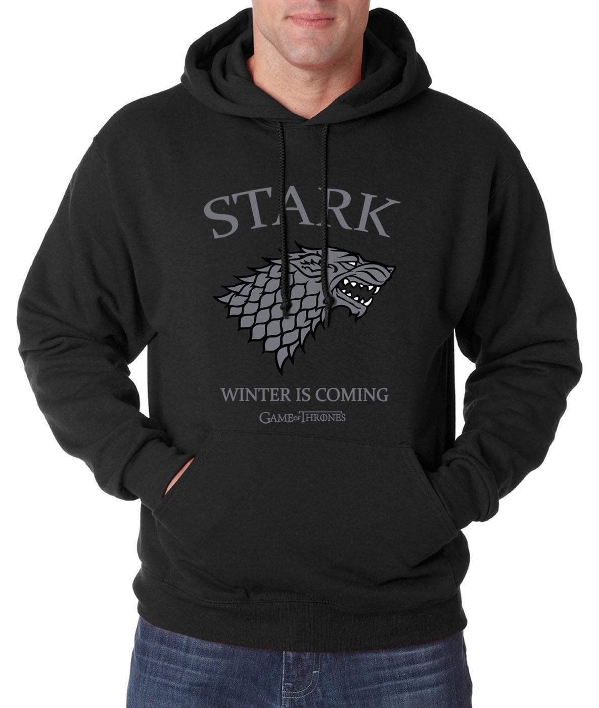 Game Of Thrones House Stark Winter Is Coming Printed Hoodies Men 2019 Spring Hoodie Sweatshirt Men Fleece Hip Hop Sportswear
