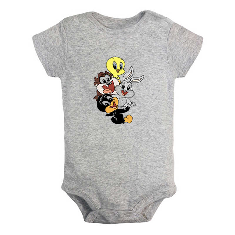 Cute Baby Sylvester Cat Looney Tunes Design Newborn Baby Boys Girls Outfits Jumpsuit Print Infant Bodysuit Clothes Cotton Sets