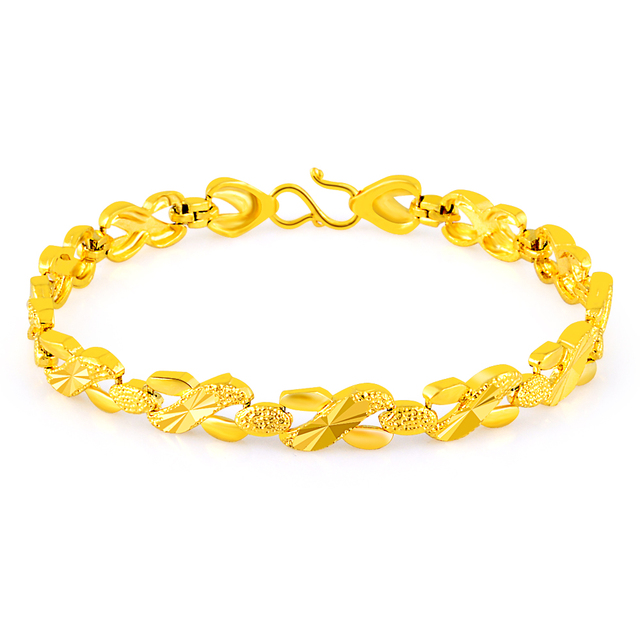 Frauen Armbander 24 Karat Gelb Vergoldung Buroklammer Herzen Charme