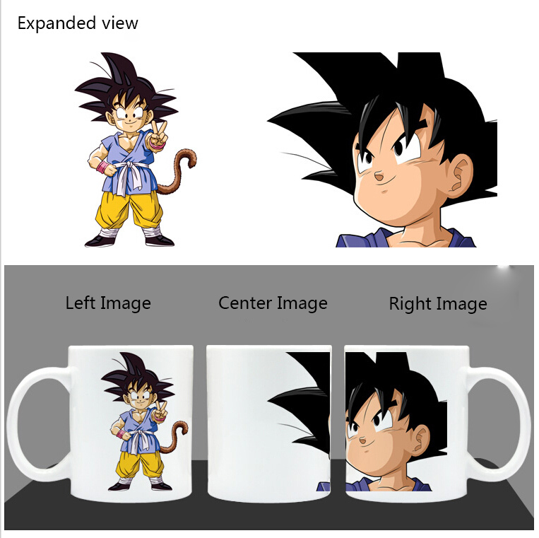 Us 18 77 Hot Water Color Changing Reactive Cartoon Taza Dragon Ball Z Cup Son Goku Mugs Super Saiyan Vegeta Coffee Cup Canecas Kaio Ken In Mugs From