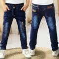 95 - 150 cm niño pantalones vaqueros 2015 los niños del muchacho grande de ropa adolescente pantalones de mezclilla