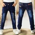 95-150cm Child jeans trousers 2015 autumn big boy children's clothing teenager denim pants