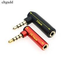 Cltgxdd 이어폰 커넥터 4 극 3.5mm 남성 플러그 3.5mm 여성 스테레오 잭 직각 오디오 어댑터 l 모양 변환기