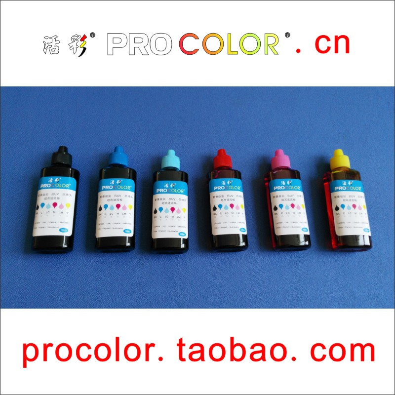 Office Electronics Procolor 100ml Dye Ink High Quality 6 Color Photo Ink Ciss Refill Ink Special For Epson Stylus Photo R330 330 R1390 1390 T60 60