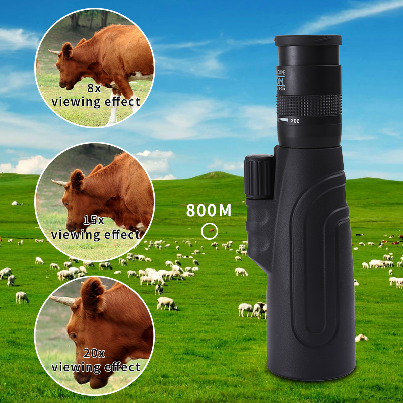 Image 3 - SCOKC Monoculars 8 20x50 High Powered Zoom Monocular Telescope FMC BAK4 Prism for Hunting Concerts Traveling Wildlife Scenery-in Monocular/Binoculars from Sports & Entertainment