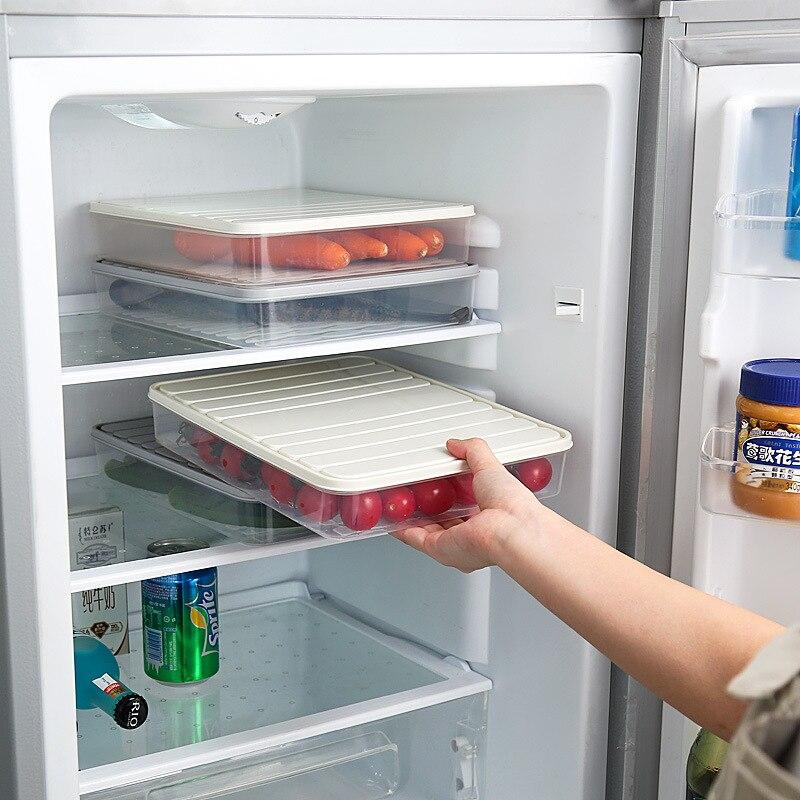 Контейнер для хранения продуктов в холодильнике с крышкой, герметичный контейнер для хранения свежего яйца, коробка для хранения рыбы, ящик...