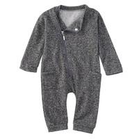 Newborn Infant Kids Baby Boy Girl Clothes Zipper Bodysuit Jumpsuit Outfit oct oct