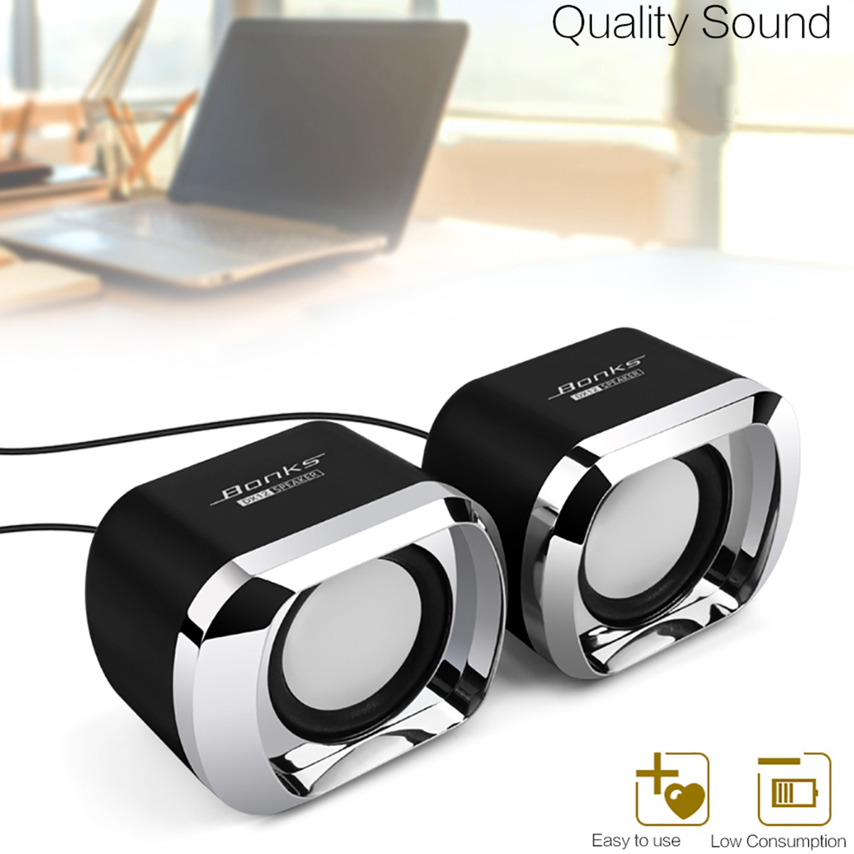 3.5mm speaker Bonks DX12 mini PC speaker 3.5mm stereo audio input interface 6W Full frequency  speakers computer portable(China)