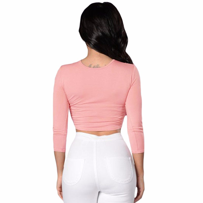 Pink-Crochet-Lace-Trim-Lace-Up-Front-Crop-Top-LC25916-10-3