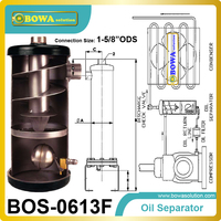 Helical Oil Separator Essential On Low Or Ultra Low Temperature Refrigeration Systems And On Large Air
