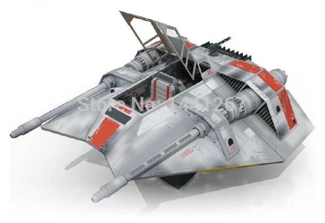 3D Paper Model Star Wars Snowspeeder Model DIY Assembled  Handmade Toy