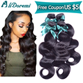 Brazilian Virgin Hair 4 bundles lot  Brazilian Body Wave Brazilian Human Hair Weaves 7A Brazilian Virgin Hair Body Wave 1b