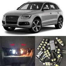 19 шт. белый автоматическая светодиодная Лампочки canbus комплект для 2008 2009 2010 2011 2012 2013 Audi Q5 Географические карты купол лицензии Плиты свет лампы