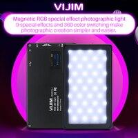 VIJIM VL 2 Vlog Camera RGB LED Lamp Video Light Dimmable Camera Flash Light Photography Lighting Recording Studio Accessories