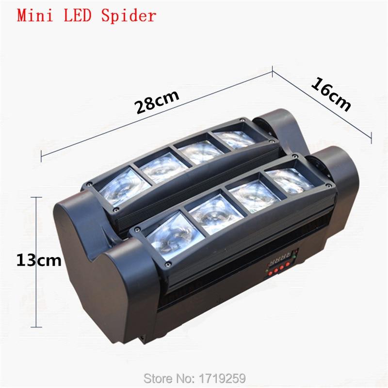 Free shipping RGBW Mini LED Spider Beam Light LED 8x6W Bar Beam Moving Head Beam LED Spider Light RGBW стоимость