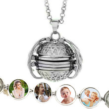 Golden Angel Wings Snitch Expanding Photo Locket Metal Pendant Necklace for Women Men Vintage Quidditch Balls Gift Jewelry 2019(China)