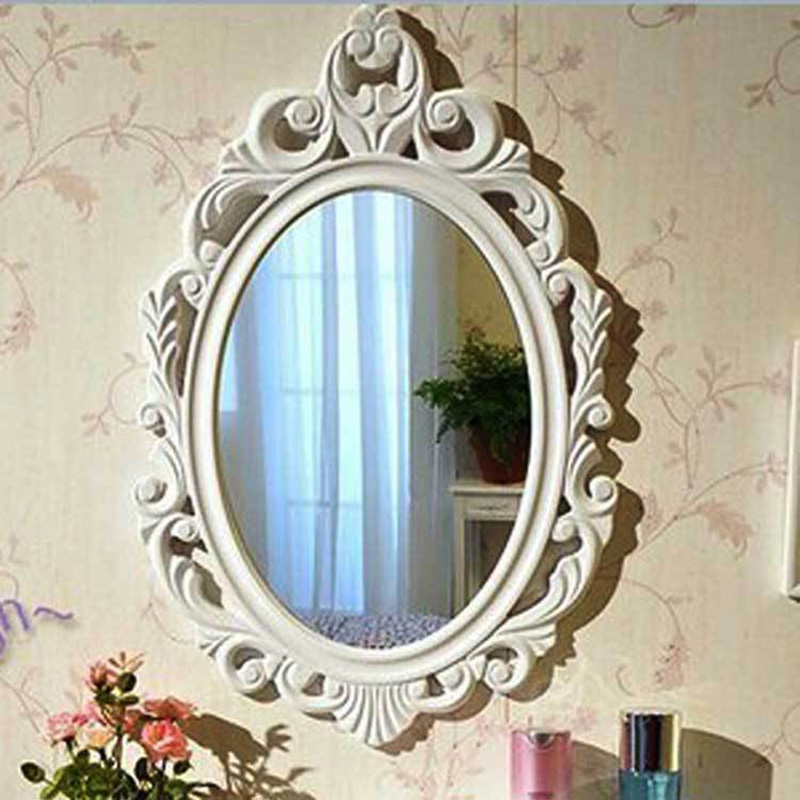 Bathroom Mirror European Antique Mirror Bathroom Vanity Mirror Wall Dormitory Dresser Hanging Mirror