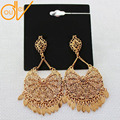 2016 New Arrival High Quality Brand Flower Hollow Flowers Leaves Drop Luxury Earrings Indian Wedding Earrings AE206