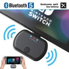 VIKEFON 블루투스 5.0 오디오 송신기 어댑터 APTX 낮은 대기 시간 닌텐도 스위치 PS4 TV PC,USB/타입 C 무선 송신기