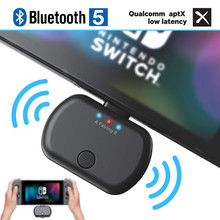 VIKEFON Bluetooth 5.0 אודיו משדר מתאם APTX השהיה נמוכה עבור Nintendo מתג PS4 טלוויזיה מחשב, USB/סוג C אלחוטי משדר