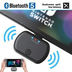 Image 1 - VIKEFON Bluetooth 5,0 аудио передатчик адаптер APTX низкая задержка для Nintendo переключатель PS4 ТВ ПК, USB/Type C беспроводной передатчик