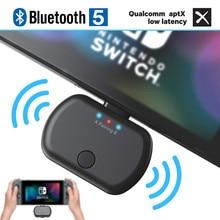 Vikefon bluetooth 5.0オーディオトランスミッターアダプターaptx低レイテンシ任天堂スイッチPS4テレビpc、usb/タイプc無線送信機