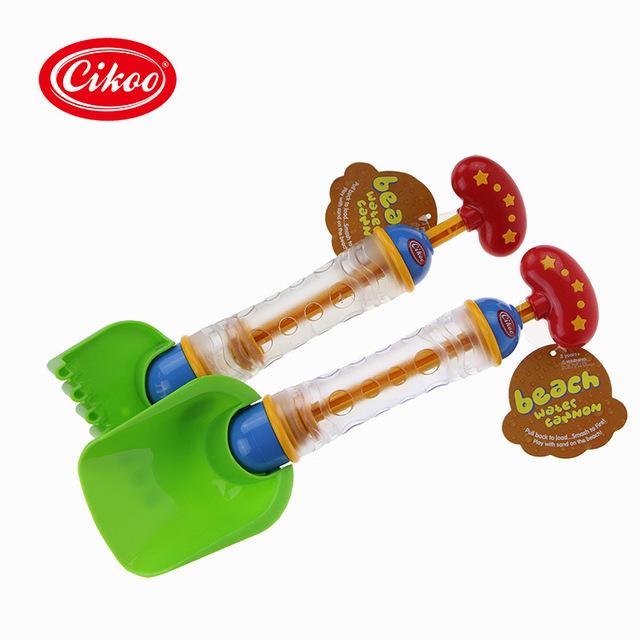2 pçs/lote Praia Brinquedo Criativo Pá E Ancinho Pistola De Água De Natação brinquedos Brinquedo de Banho Para Crianças Diversão Ao Ar Livre piscina pulverizador