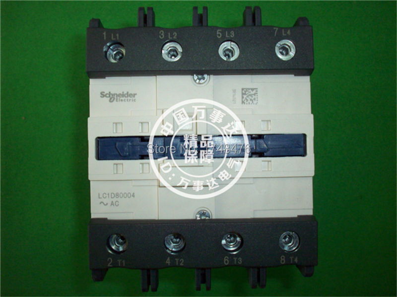 ФОТО TeSys D Contactor 4P 125A LC1D80004 LC1D80004K7  LC1-D80004K7 100V AC