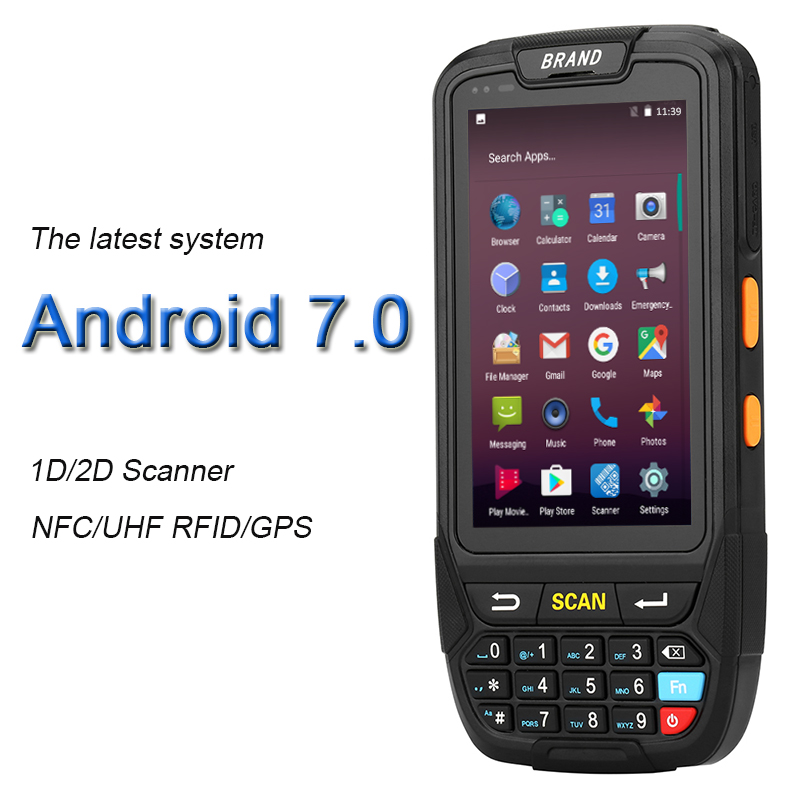 PDA Barcode scanner 1D 2D Blutooth Android PDA Handheld Terminal Rugged PDA Wireless Mobile 1D Bar code Scanner Data Collector heroje t5 elite vision wireless 433mhz 1d barcode scanner data collector inventory ean13 1d scanner management inventory wired
