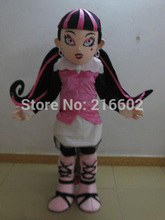 High quality vampire draculaura mascot costumes for adults advertising animal costume school fancy dress