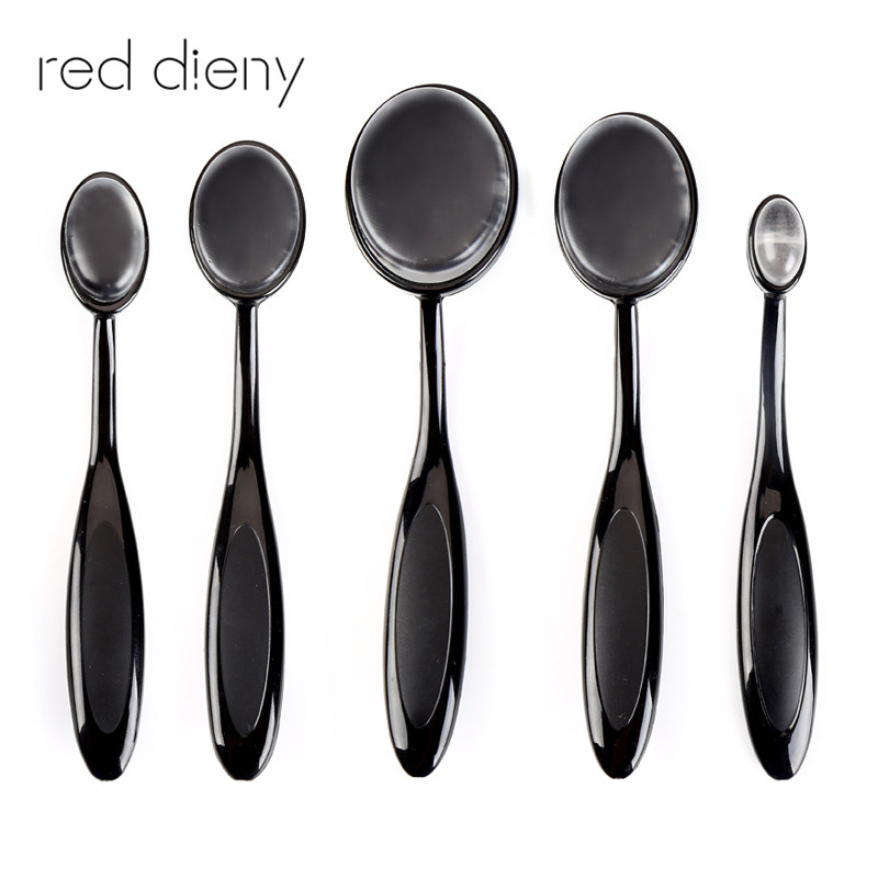 1pcs Pro Face Oval Makeup Brush Foundation BB Cream Flawless Base Powder Puff Silicone Brush