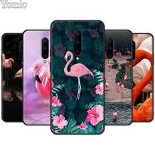 Silicone Cover Shell for Oneplus 7 7 Pro 6 6T 5T Black Case for Oneplus 7 7Pro Soft Phone Case Cute Flamingo color