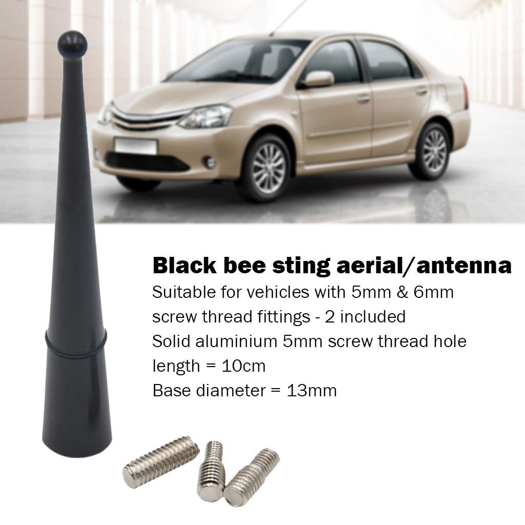 Kongyide 2019 nova pequena abelha preta picar carro van substituição aérea ariel rádio antena universal julho 23 p30