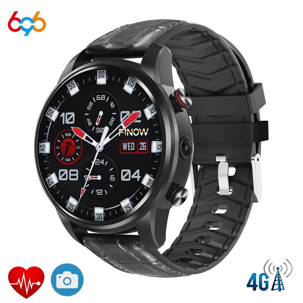 696X7 4G montre intelligente Sport Smartwatch pour hommes femmes Fitness montre de fréquence cardiaque 1.39 pouces MTK6739 Android 7.1 pour Android et IOS