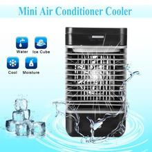 2018 Mini Small Electric Air Cooler Portable Fan Air Conditioner Battery Table Desk Fans Cooling Air Conditioning Any Space Home