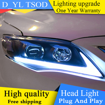 D-YL Car Styling for Toyota Corolla Headlights 2011-2014 Altis LED Headlight DRL Bi Xenon Lens High Low Beam Parking Fog Lamp