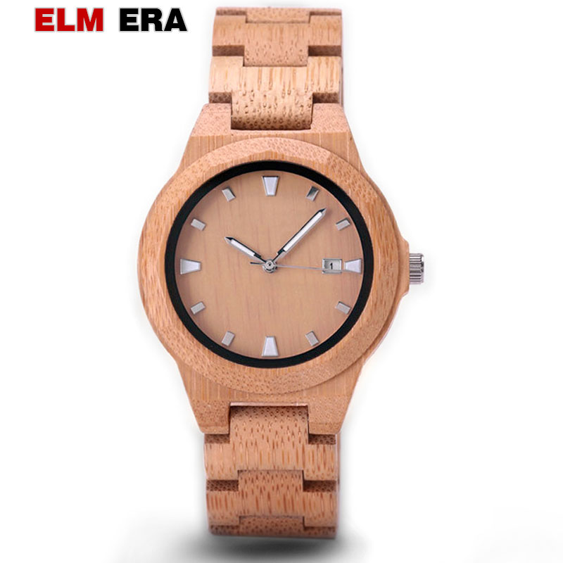 ELMERA Wood Watch Quartz-Wristwatches Femme in Montre Zegarek Damski