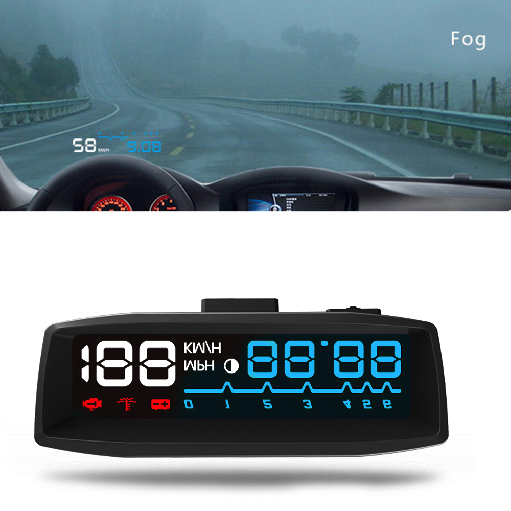 4F OBDII Car HUD Windshield Projector Head Up Display Overspeed Warning CY915-CN rastp m9 hud 5 5 inch head up windscreen projector obd2 euobd car driving data display speed rpm fuel consumption rs hud011