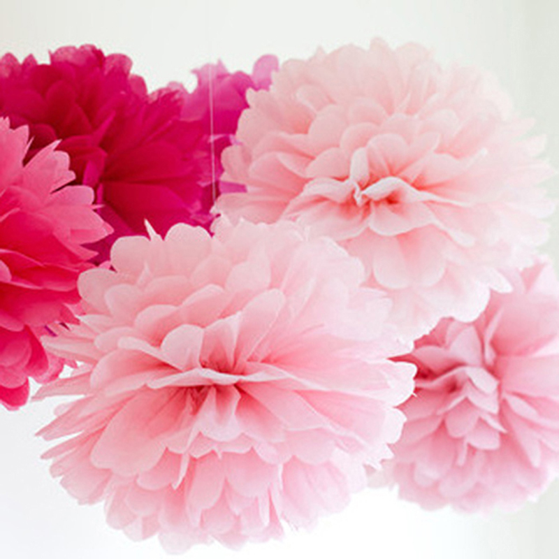 1pcs 15cm tissue paper flower balls decorative pompoms for wedding 1pcs 15cm tissue paper flower balls decorative pompoms for wedding birthday party new year christmas party decoration pompons in artificial dried flowers mightylinksfo