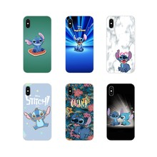 Para o iPhone Da Apple X XR XS MAX 4 4S 5 5S 5C SE 6 6 S 7 8 Plus ipod toque 5 6 Ponto Lilo e Stitch Ohana sweety Escudo Do Telefone Covers(China)