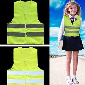 Image 1 - High Visibility Pupil Child Student Kids Reflective Traffic Vest Scooter Cycling Safety Vest Jacket Children Road Reflect Vests