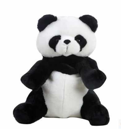 O envio gratuito de 2018 Crianças quentes de pelúcia saco Bonito panda dos desenhos animados Saco de escola mochila infantil Atacado crianças panda