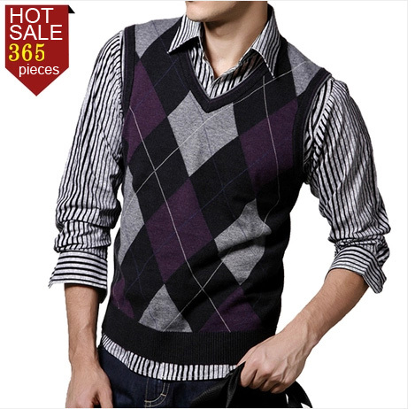 Online Shop 2014 Spring Casual Male Sheep Sweater Vest V-neck Wool ...