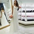 Simple V Neck Wedding Dresses A Line Chiffon with Beading bridal gowns simple hippie boho plus size vestido de noiva 2016