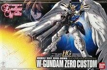 Bandai Gundam 1/144 WING GUNDAM ZERO CUSTOMโทรศัพท์มือถือชุดประกอบชุดตัวเลขการกระทำของเล่นเด็ก