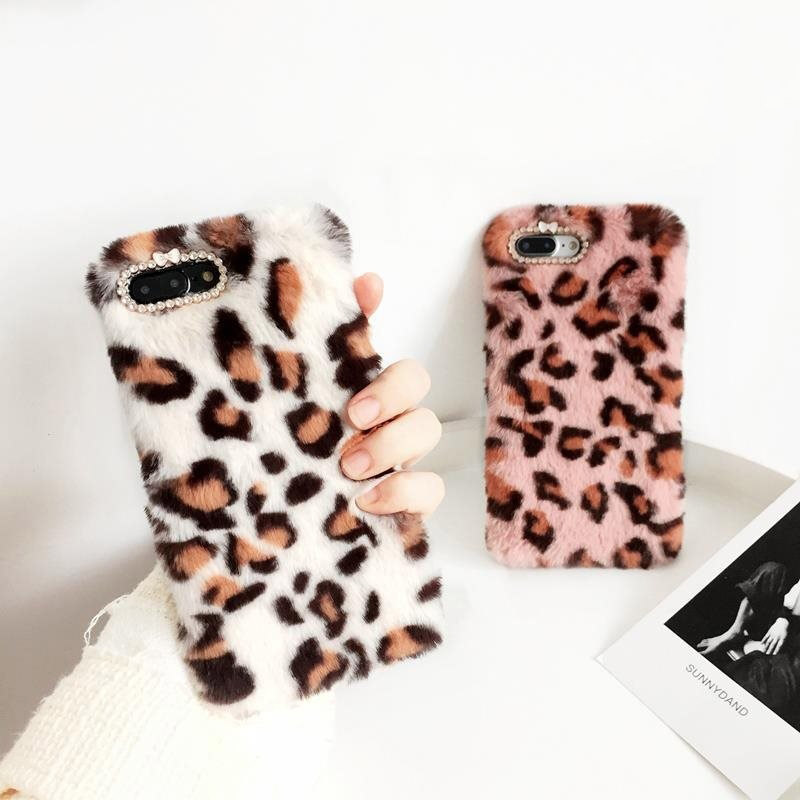 Case For Xiaomi 8 A 1 2 Lite Max 2 3 5s Cover For Redmi Note 7 6 5 4 3 S2 X A Cute Diamond Fluff Leopard Print Fur Soft Silicon Crease-Resistance