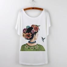 Blusa New Fashion Hot 2017 Summer Brand Clothing Women T-shirt Tops Tee Shirt Frida Kahlo Print Tshirt Loose T Femme Size frida kahlo making herself up